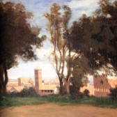 "Corot's ""Rome—the Colosseum Seen from the Farnese Gardens."""