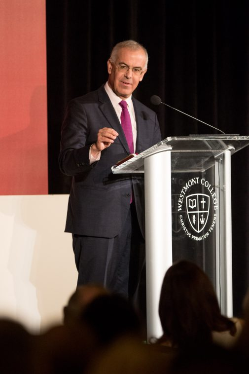 David Brooks at the Westmont President's Breakfast