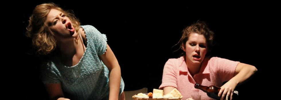 "Paige Tautz and Heather Johnson in ""Mad and a Goat"" (Photo: Taylor Speer, Fort Collins Fringe Festival)"