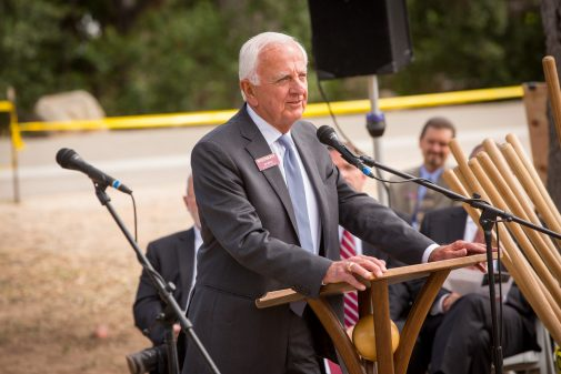 Ed Birch speaks at the groundbreaking May 5, 2016