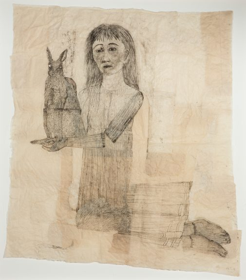 "Kiki Smith's ""Kneeling Woman with Rabbit"""