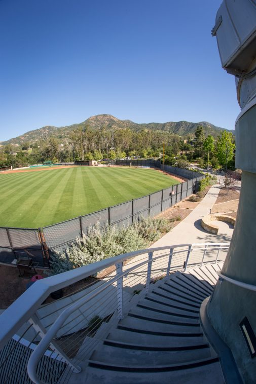 Westmont Observatory overlooking Carr Field