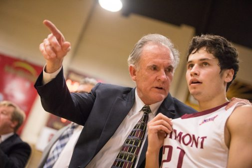 John Moore, coaching in his 24th year at Westmont, and Gerald Karczewski
