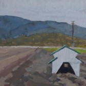 Nina Warner - Salinas Pump House - Gouache on Archival Board