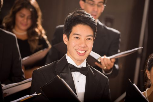 Jason Tong, tenor and student conductor
