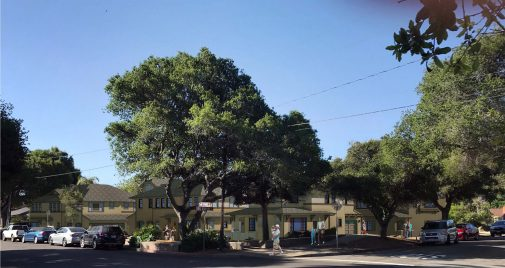 RRM Design's rendering of the corner of Los Olivos and Oak Park Lane