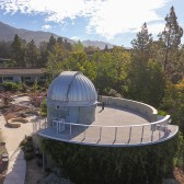 The Westmont Observatory is nestled in the hill above Thorrington Field