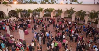 Guests gather in the rotunda at Fess Parker's DoubleTree Resort