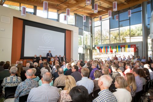 President Gayle D. Beebe officially dedicated the Global Leadership Center Oct. 13