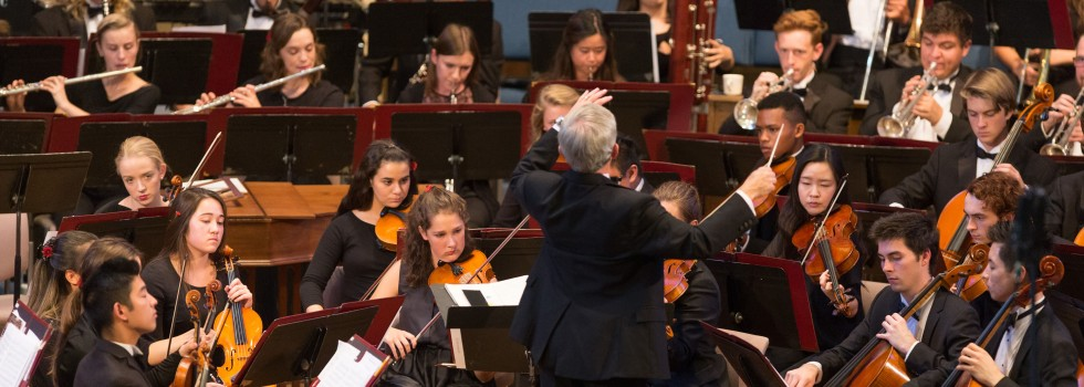 The Westmont Orchestra conducted by Michael Shasberger