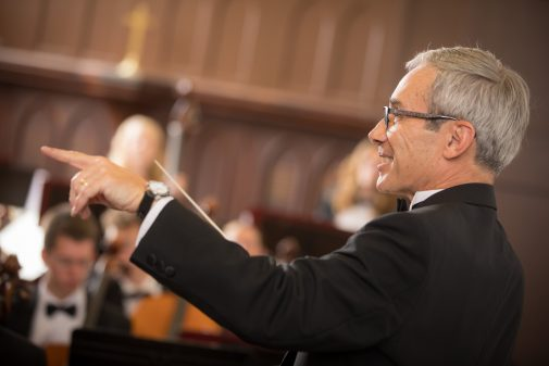 Conductor Michael Shasberger, Adams professor of music and worship