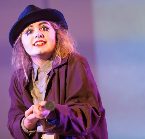"Elena White starred in ""The Resistible Rise of Arturo Ui"""
