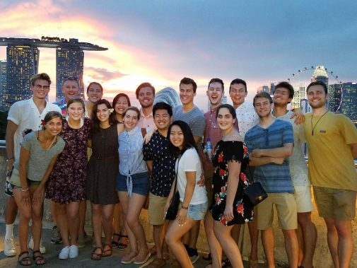 Westmont students in Singapore