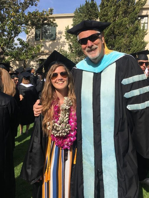 Elli Scheer with Professor Gregg Afman