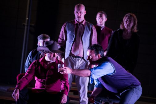"Lit Moon's ""Julius Caesar"" stars Mitchell Thomas, Westmont professor of theater (front right)."