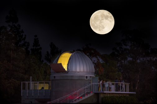The Keck Telescope is housed at the Westmont Observatory