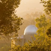 The Westmont Observatory shrouded by oak trees is open for public viewing of the stars with the Keck telescope