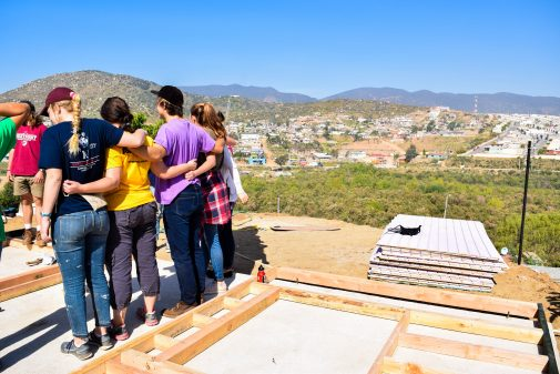 Westmont students build houses and change lives in Ensenada (photo by Katie Wright '16)