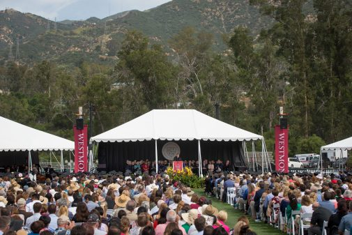 Commencement is held on Russell Carr Field