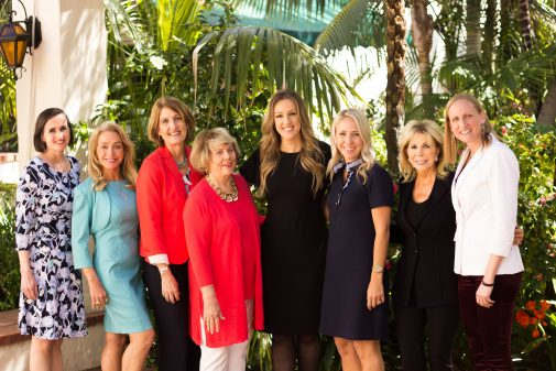 Mary Pat Whitney, Andria Kahmann, Teri Bradford Rouse, Penny Jenkins, Megan Alexander, Annette Richards, Anna Grotenhuis and Kirsten Moore at the Biltmore