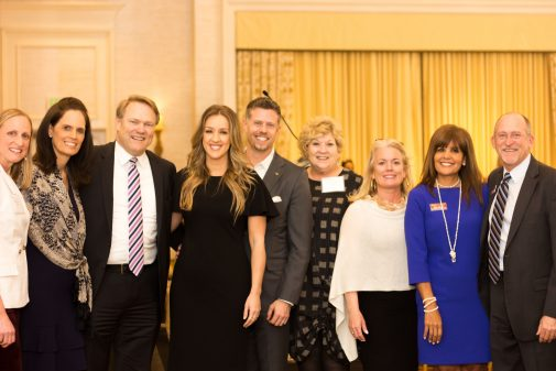 Kirsten Moore, Pam and Gayle Beebe Megan Alexander, Brian Cournoyer, Lynne Tahmisian, Roxanne Packham and Irene Neller at the event
