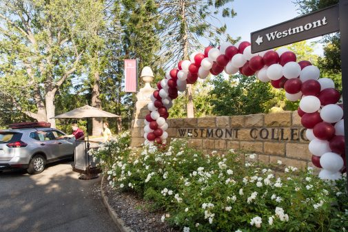 The main entrance to Westmont College for Orientation