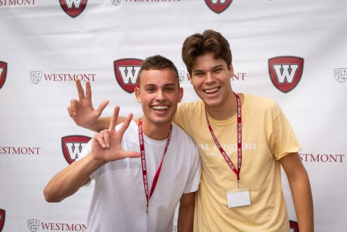 Luke Perez and Joseph Helm enjoying Orientation