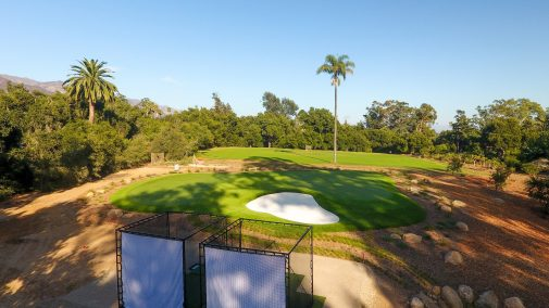 Temporary hitting bays have been installed at the Stan Anderson Golf Complex