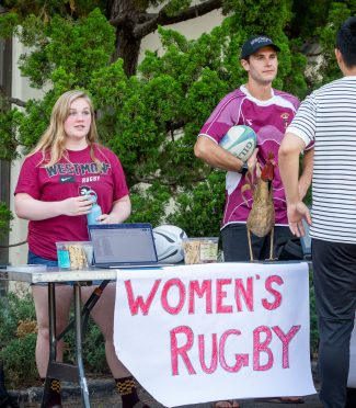The women's and men's rugby teams