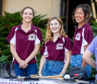 The Westmont women's polo team