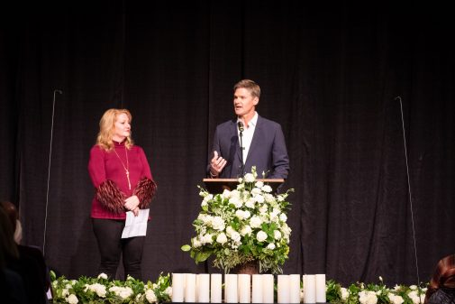 """Sharon Byrne and John """"Abe"""" Powell helped organize the event hosted by Westmont"""