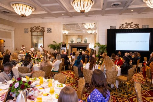 The fifth annual Westmont Women's Leadership Luncheon at the Four Seasons Biltmore Santa Barbara.