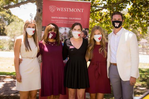 The Westmont Admissions Team is ready to welcome masked students to campus