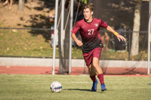 Men's soccer has been a NAIA Scholar Team for five straight years. Pictured: senior midfielder and 2019-20 NAIA Scholar-Athlete Nick Ruiz.