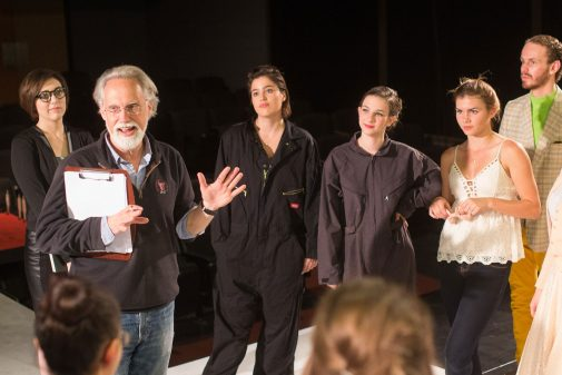"""John Blondell directing """"The Insect Comedy"""" in 2015"""