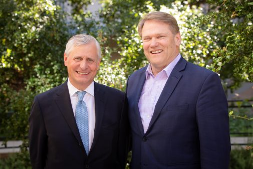 Jon Meacham and Westmont President Gayle D. Beebe