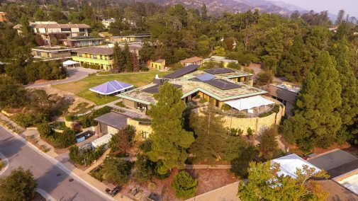Westmont's Winter Lawn with outdoor tents