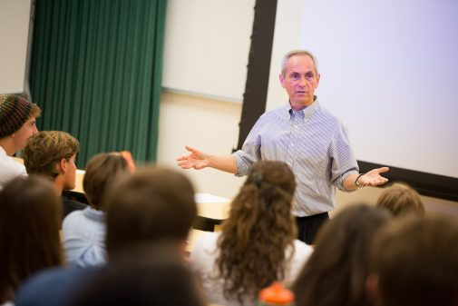 Dr. Rick Pointer teaching history at Westmont College