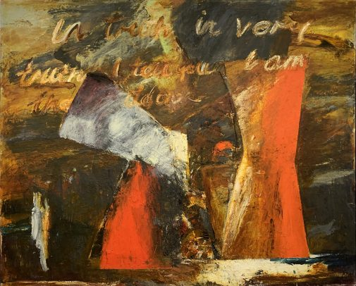 """John Walker's """"The Centre, #2,"""" oil on canvas, 1985, gift of Berkus Family Collection"""
