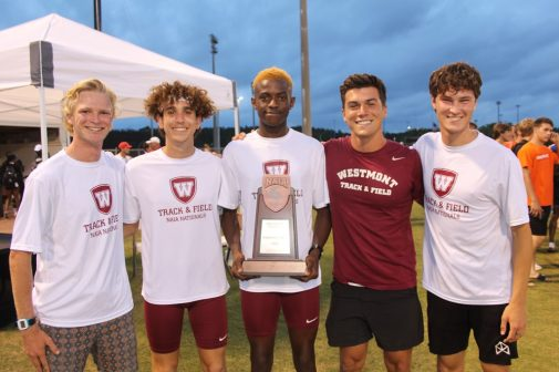Westmont College Track and Field Team with Senzo Zola Sokhela