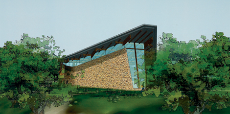 A detail from the recently designed proposed chapel/auditorium