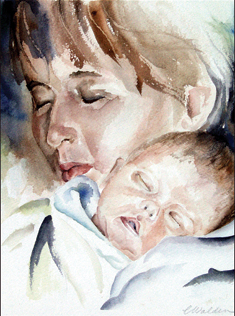Mother's Peace watercolor