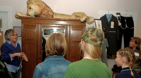 Visitors admire wardrobe and costumes