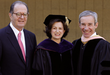 Stephen and Denise Adams with Michael Shasberger