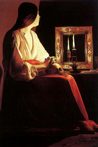 The Penitent Magdalene by Georges De La Tour