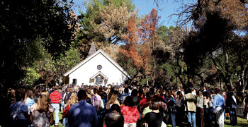 """The Dec. 1 service ended at the prayer chapel with the college hymn, """"Great is Thy Faithfulness"""""""