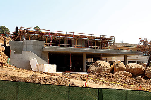 Adams Center for the Visual Arts is also taking shape.