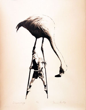 """""""Flamingo"""" by Sean Keeley '09 showcases student work."""