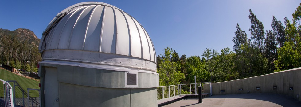 The top deck of the Westmont Observatory