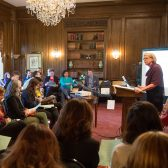 Dr. Cheri Larsen Hoeckley speaks at the 2016 Conversation on the Liberal Arts